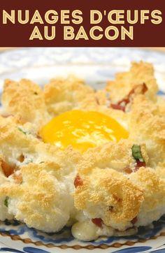 Nuages d'œufs au bacon