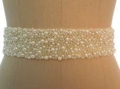 Best Seller Pearls Bridal Sash, Wedding Beaded Belt, Ivory Pearls Belts on Etsy, $70.94 CAD