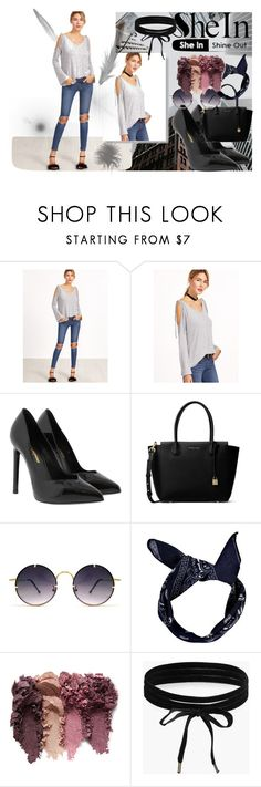 """""""#sheIn"""" by softic013 ❤ liked on Polyvore featuring Yves Saint Laurent, MICHAEL Michael Kors, Spitfire and Boohoo"""