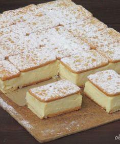 pl :: Napoleonka w 15 minut Fun Desserts, Delicious Desserts, Yummy Food, Kolaci I Torte, Banoffee Pie, Ice Cream Cookies, Cake Bars, Polish Recipes, Sandwiches