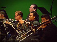 Metales de la Orquesta y el maestro Ronald Hernández en el piano
