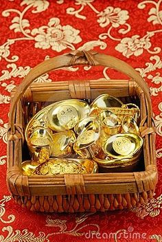 chinese new year gold ingot decorations  Precious metals investments with http;//londoncommoditymarkets.com
