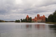 The perfect fairy tale castle in Lithuania. I have actually been here... it was pretty amazing...