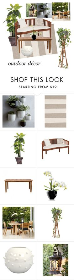 """Outdoor Decor"" by girlie87 ❤ liked on Polyvore featuring interior, interiors, interior design, home, home decor, interior decorating, West Elm, Dash & Albert, Laura Ashley and Zuo"
