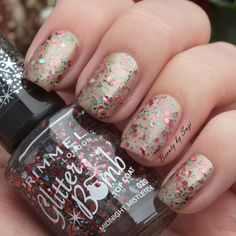 Rimmel Glitter Bomb, 021 Midnight Mistletoe #nails #rimmel