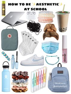 Travel Bag Essentials, School Essentials, Packing Tips For Travel, Middle School Hacks, Life Hacks For School, Just Girl Things, Girly Things, Schul Survival Kits, 7th Grade Outfits