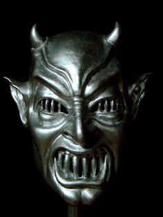 Cappe MASCHERA DIAVOLO-Krampus Party Halloween Horror