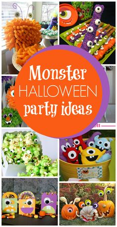 Are you planning a kids Halloween party and need a fun theme that's not scary?! Check out our favorite 30 Monster Halloween Party Ideas on www.prettymyparty.com.