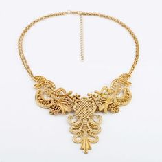 Buy GOLD CUTOUT NECKLACE