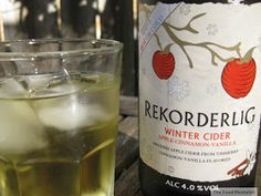 The Food Mentalist: Cider Sunday - Rekorderlig 'Winter' Cider - Apple.Cinnamon.Vanilla Hmm.i wonder..