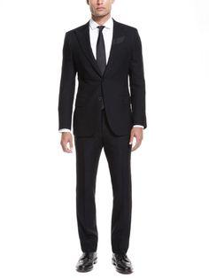 Simon Spurr striped peak-lapel suit $2,695