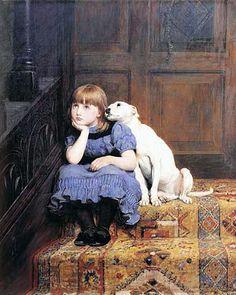 Sympathy - Briton Riviere (1840 – 1920, English)