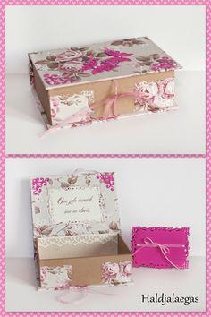 Pulmadeks tellitud roosa laegas koos kaardiga