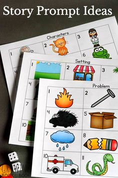 Story Prompts for Kids Try these creative story starters for kids. They are great story prompts for kids of all ages to work on storytelling and as writing prompts. Writing Prompts Funny, Writing Prompts For Writers, Picture Writing Prompts, Story Prompts, Writing Skills, Kindergarten Writing Prompts, Kids Writing, Literacy Activities, Activities For Kids