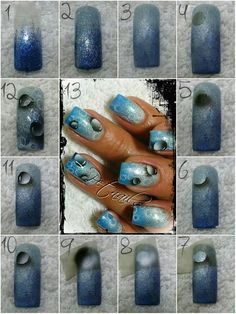 This is awesome. Nails & Co, Les Nails, Airbrush Nail Art, Nailart, Nails Only, Nail Polish Designs, Nails Design, Acrylic Gel, Beautiful Nail Designs