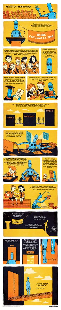 ZEN PENCILS - Cartoon quotes from inspirational folks. I'm valedictorian because I worked the system, I did what I was told. I'm scared. Face Off, Tgif, Caricature, Funny Videos, Humor Videos, Friday Quotes Humor, Graduation Speech, Valedictorian, Cartoon Quotes