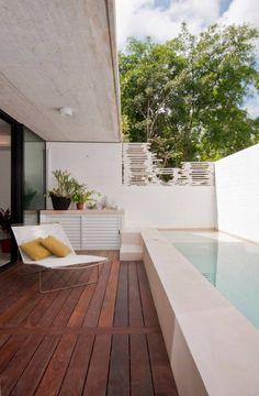 piscina en la terraza #cocinaspequeñasalargadas