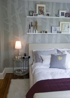 How to birch tree mural. So beautiful....good for a nursery or bedroom. Definitely going to try this someday. by shirley