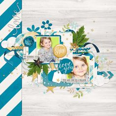 Scrapbook Templates, Scrapbook Pages, Tiny Turtle, Shining Star, One In A Million, Creative Inspiration, Digital Scrapbooking, Layouts, My Favorite Things