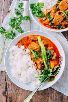 This red curry chicken recipe is as easy as cooking gets. With fewer than 10 ingredients, you'll be enjoying this fragrant curry in less than a half hour.