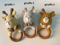 This cute baby rattle with teether ring will be a great pregnancy gift, baby shower gift or birthday gift for the little ones in your life. *The size is perfect for little hands and helps baby to develop sensory awareness the hardness of the wood and the softness of the wool. It will aid baby to Pregnancy Gift For Friend, Pregnancy Gifts, Baby Girl Gifts, New Baby Gifts, Newborn Crochet, Crochet Baby, Pregnancy Congratulations, Girls Coming Home Outfit, Crochet Animal Patterns