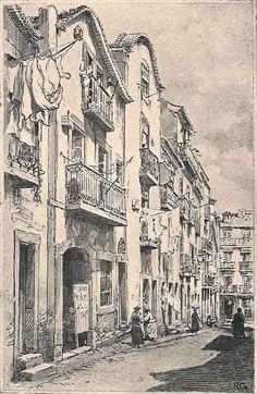 Rua das Madres - Portugal velho   drawing