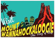 Mount Wannahockaloogie  Postcard by JDaud.deviantart.com on @DeviantArt