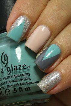 Chevron Tape Mani grape fizz nails blog