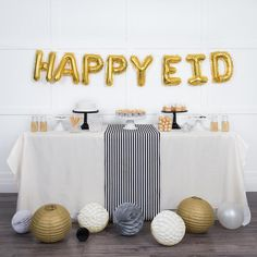 There are so many Muslim-owned businesses that sell Ramadan and Eid decor online and in case you haven't heard of them before, here's a roundup. Diy Eid Decorations, Eid Balloons, Eid Mubarek, Eid Holiday, Eid Crafts, Eid Party, Balloon Banner, Quilt Festival, Happy Eid