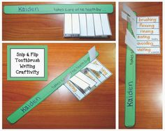 Classroom Freebies: Toothbrush Dental Hygiene Writing Prompt Craft