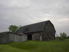 Propped Barn in Akron, NY