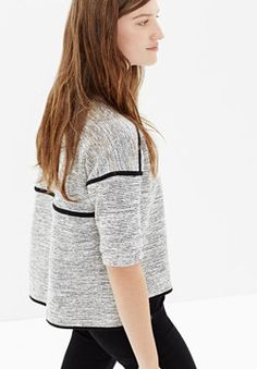 Textured crop sweatshirt | Madewell.com