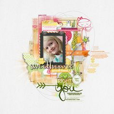 Adorably sweet #scrapbook page from Kayleigh at DesignerDigitals.com