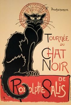 Chat Noir by Theophile Alexandre Steinlen