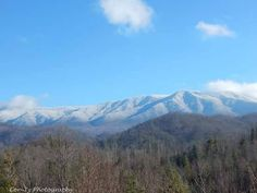 Snow topped mountains near Wolf Laurel. By Angie Jenkins‎ on I Love the Mountains of Western North Carolina
