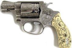 Revolver  Pistol  Gun  engraving