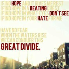 """Great Divide"" lyrics by Hanson"