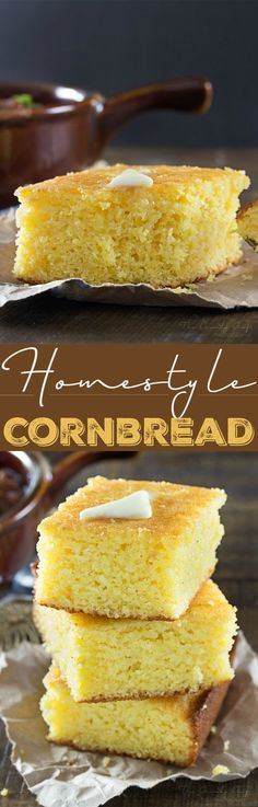Homestyle Cornbread | This homestyle cornbread is a perfect mix of savory…