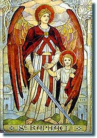 St. Raphael - Healer and patron Saint of travelers, happy meetings (future spouses)