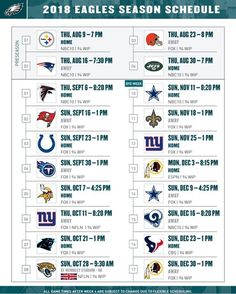 photograph about Philadelphia Eagles Printable Schedule titled 66 Ideal Philly Unique photographs inside 2019 Eagles nfl, Fly