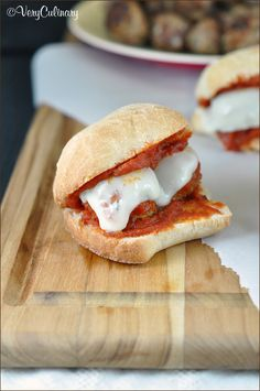 Meatball Sliders from Very Culinary