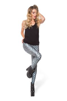 Dragon Scales Silver Leggings - LIMITED – Black Milk Clothing