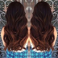 Fashionable Sublte Wavy Hair for Chocolate Hair