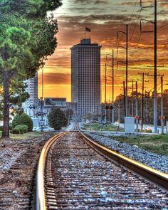 Clark Tower Sunrise by Barry Baskin on Capture Memphis // Clark Tower Sunrise