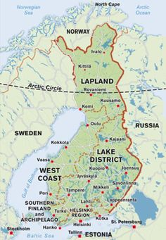 Finland Photo Gallery: Map of Finland