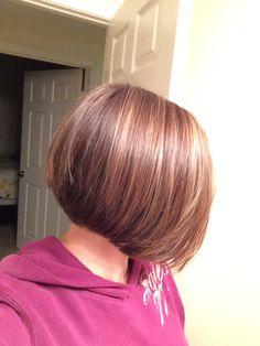 A-line bob  A-line haircut Short hairstyle  Short hair Bob Escape Salon Murrieta Anita