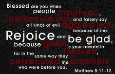 Matthew 5:11-12 / Site-Wide Activity | Awestruck Catholic Social Network