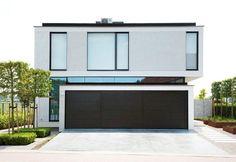 MODERN_B Minimal Architecture, Contemporary Architecture, Interior Architecture, Bauhaus, Building Design, Building A House, Modern Properties, Duplex House, Minimal Home
