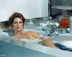 French actress Brigitte Bardot in the bath in a scene from Roger Vadim's film 'Don Juan 1973 ou Si Don Juan Etait Une Femme' aka 'Don Juan, Or If Don Juan Were A Woman', 1973.
