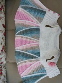 Baby Knitting Patterns Dress I want the step by step … orThis Pin was discovered by EdiFast and easy image sharingCute for baby girls Baby Knitting Patterns, Knitting For Kids, Knitting Stitches, Knitting Designs, Hand Knitting, Crochet Jacket Pattern, Patterned Socks, Baby Sweaters, Pulls